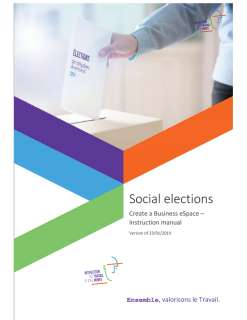 Social elections : Business eSpace - Instruction manual